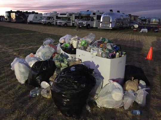 Piles of trash in Solartown near Madras.