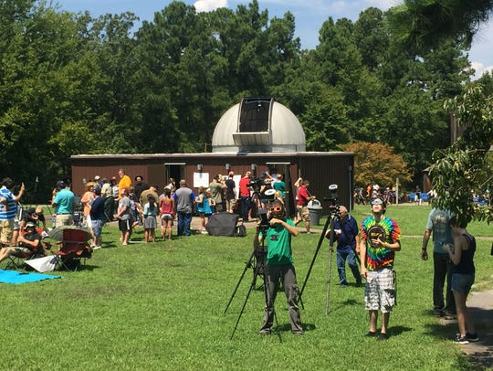 250 or so people watched to total solar eclipse around