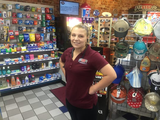 "Katie Marchese works at the Mobil on Gratiot: ""The highest winning ticket I've sold is $5,000.''"