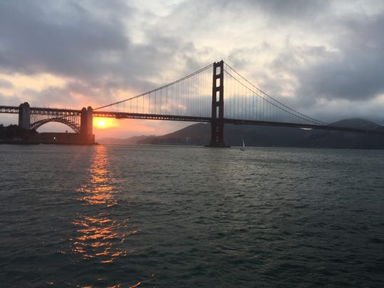 Watching the sunset at San Francisco's Golden Gate