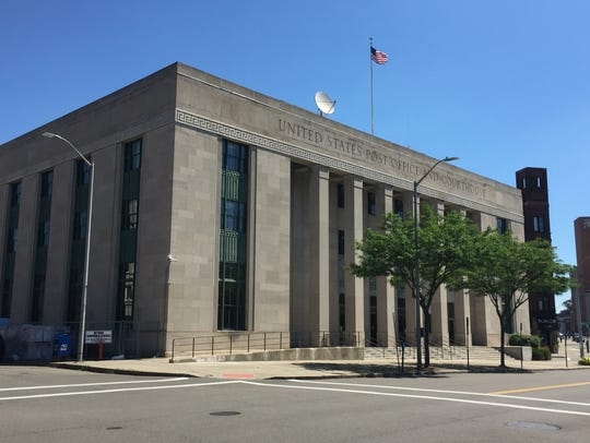 The federal courthouse building in downtown Binghamton.