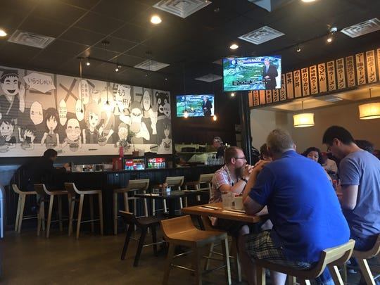 Ramen Kumamoto, a bustling eatery off East Main Street in downtown Newark, opens daily at 11:30 a.m.