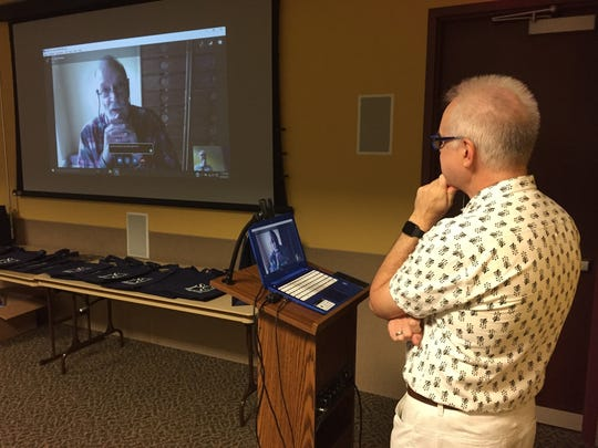Author Alan Bradley took part in the Somerset County Library System of New Jersey's first international Skype session this past Friday, speaking live from his home on the Isle of Man in the middle of the Irish Sea. The discussion was moderated by Paul Grzella, editor of the Courier News, Home News Tribune and MyCentralJersey.com