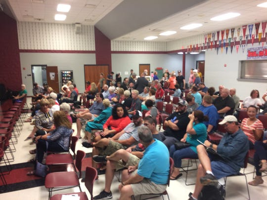More than 100 people attended Saturday's Citizens Against Radioactive Dump in Pike County meeting at Piketon High School.