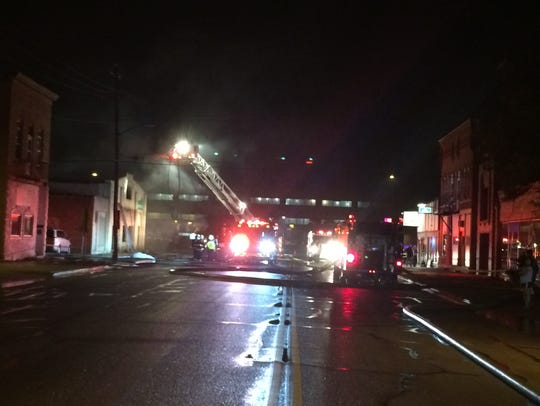 Green Bay Metro Fire crews battle a fire on Bodart