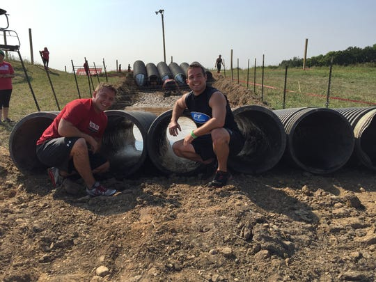 Trainers Jeremy Petfalski and Tony Becker said that basic exercises - squats, lunges, pull-ups, rows and sprints - will help prepare us for big races like Rugged Maniac.