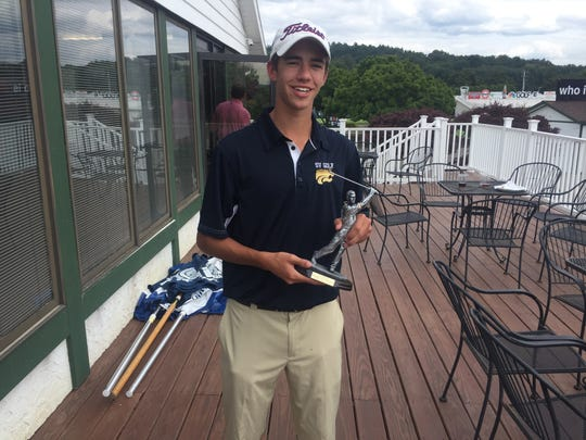 Trevor Jones of Susquehanna Valley led the Nick DiNunzio Memorial Tournament with a 1-under 71 at En-Joie Golf Course.