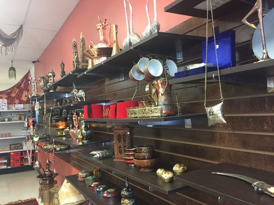 Jerusalem International Grocery in Lewes sells Persian brass trays and hookahs as well as food items.