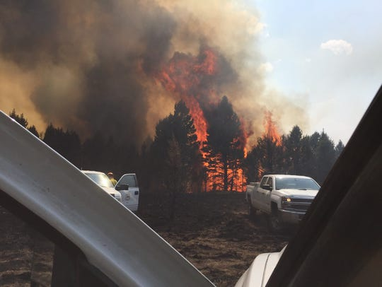 The Ditch Creek fire burns in Helena-Lewis and Clark