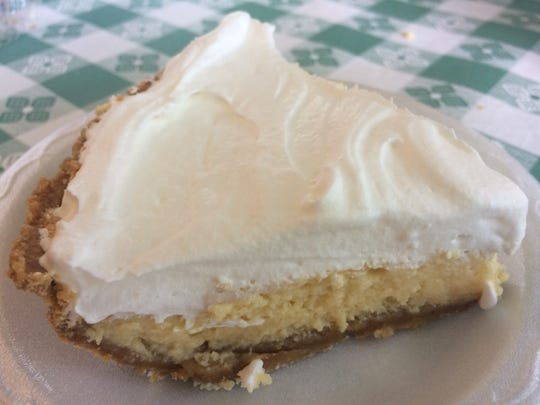 Key lime pie is made from scratch daily at Champy's Famous Fried Chickien.