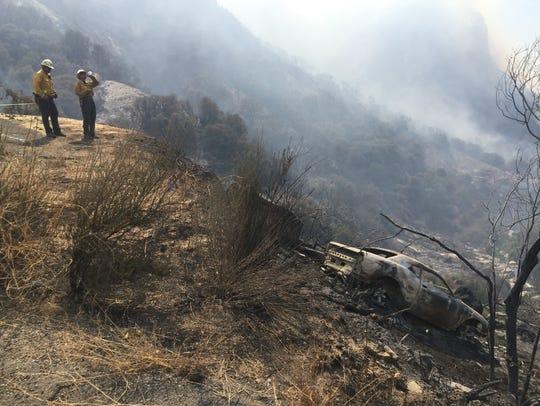 A car crash led to a 500-plus-acre wildfire near Balch