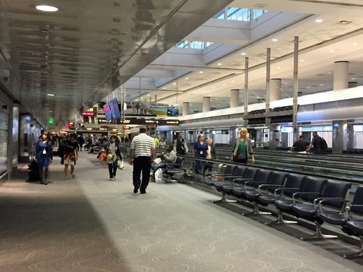 What happens at an airport overnight?