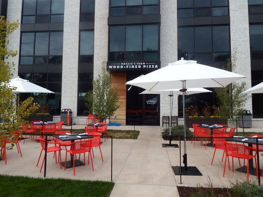 The patio that can seat about 30 people at Maggie's