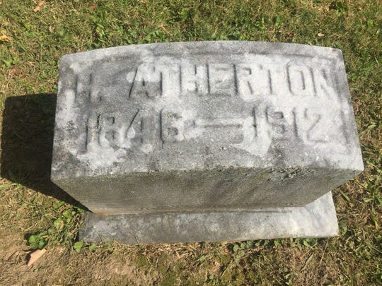 Mayor Herbert Atherton's marker in a family plot at