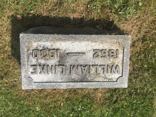Sheriff William Linke's grave at Cedar Hill Cemetery in Newark.