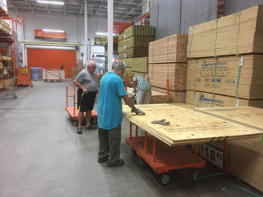 Pat Tydor of Indialantic (far right) was at Home Depot