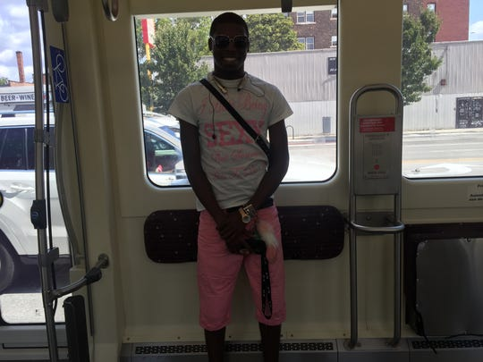 TreShawn King rides the QLINE to work on September