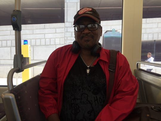 Lamarr Scott rides the QLINE on September 5, 2017.