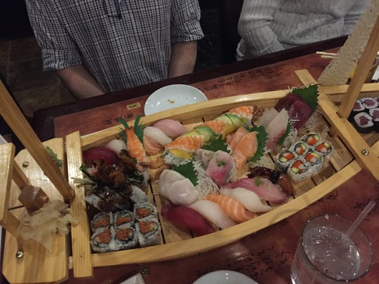 "You can get a ""boatload"" of sushi at Sakura Japanese Restaurant off Kirkwood Highway in Elsmere."