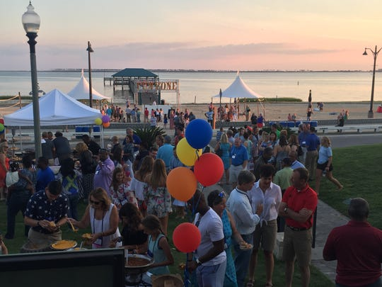 "A ""Family Night"" reception was held on the shores of the Gulf of Mexico at the 2017 Southern Legislative Conference."