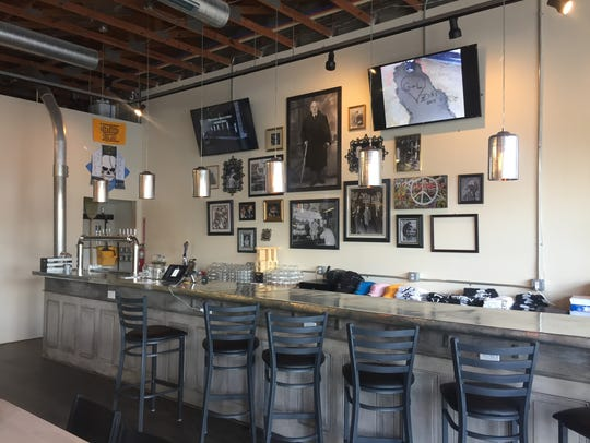 Zed's Beer tasting room features family photos of the