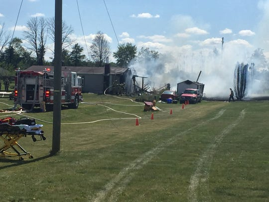 A fire at a home in Bennington Township on Saturday