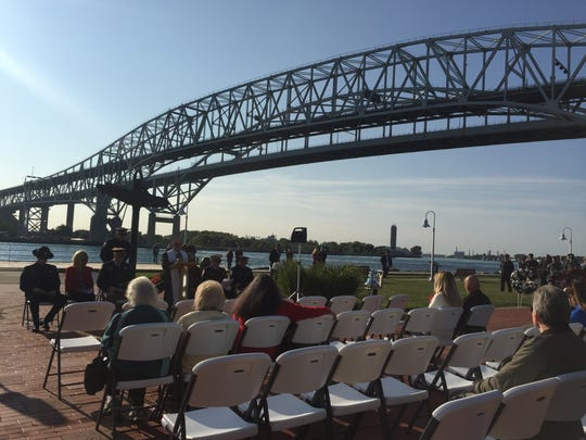 Sept. 11 service of remembrance takes place under the Blue Water Bridges Monday morning.