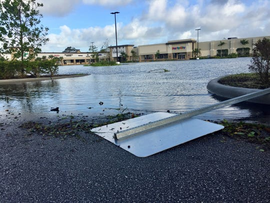 Parking lot of the Park Shore Plaza in Naples.