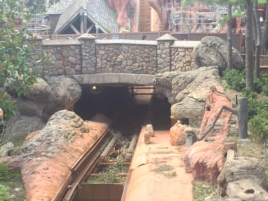 There was some debris on the Splash Mountain track at Disney's Magic Kingdom on Tuesday. The popular ride is scheduled to be closed through November for renovations and doesn't appear to have anything to do with Hurricane Irma.