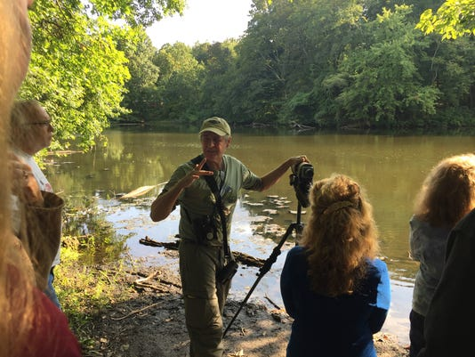 636408345378819153-naturalist-Lloyd-Shaw-at-Whitman-Woods-leading-tour-in-Laurel-SPrings.JPG