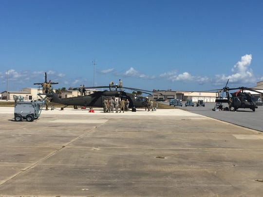 At Patrick Air Force Base on Wednesday, crews prepared an Army HH-60 Black Hawk helicopter for flight that was delivered to support Hurricane Irma search and rescue operations. Members of the Army's 101st Airborne Division will soon be heading home to Fort Campbell in Kentucky.
