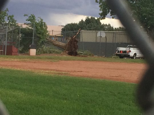 A microburst over the Page area has caused injuries and damage Sept. 14, 2017.