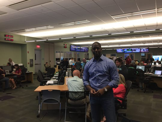 Mayor Andrew Gillum monitors the city/county response
