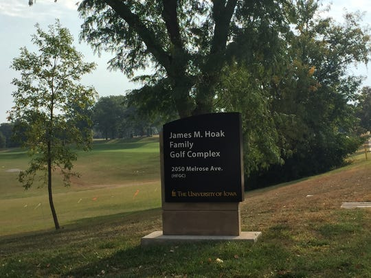 There are numerous parking spots at Finkbine Golf Course