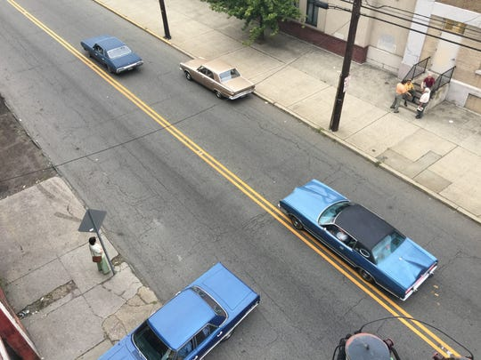 "The cast and crew of ""The Irishman"" shot scenes Sunday on Spruce Street in Paterson."
