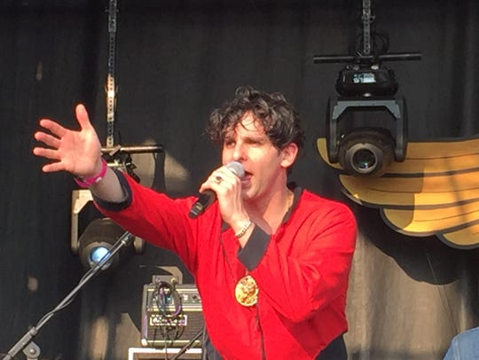 Adam Weiner led Low Cut Connie through a wild set Sunday