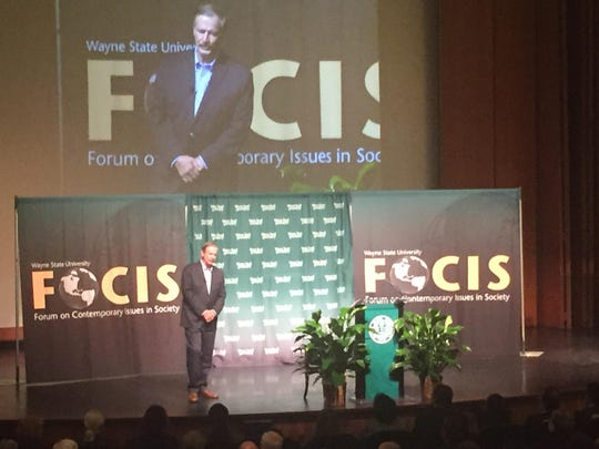 "Vicente Fox, former president of Mexico, was the keynote speaker for the Forum on Contemporary Issues in Society's (FOCIS) 10th anniversary lecture series ""What in the World is Going On?"""