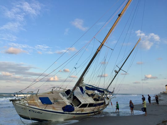 The unoccupied sailboat was reported Sept. 19 by a