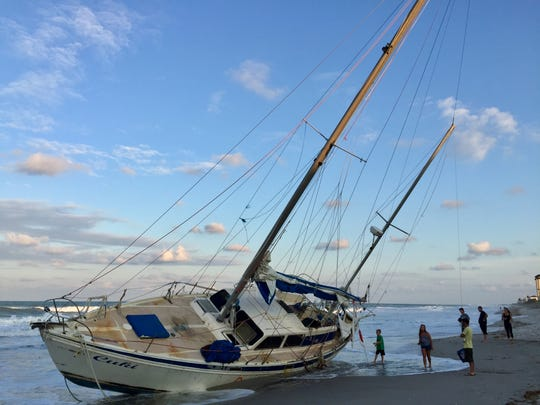 The unoccupied sailboat was reported Sept. 19 by a beach jogger, said Tod Goodyear, Brevard County Sheriff's Office spokesman.