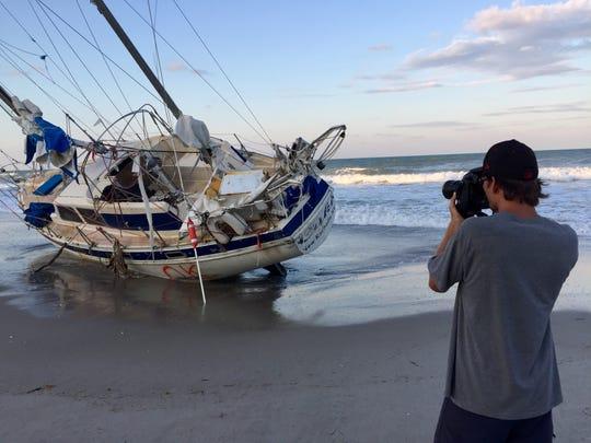Mysterious sailboat runs aground on Florida beach after Irma