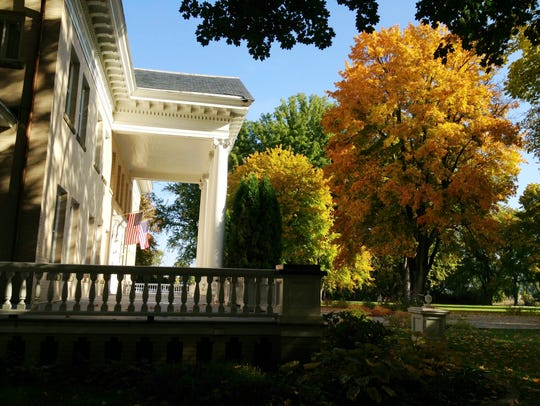 Fall colors are spectacular at the Daly Mansion in