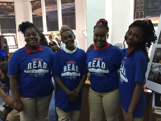 These students at J.E. Clark Preparatory Academy had