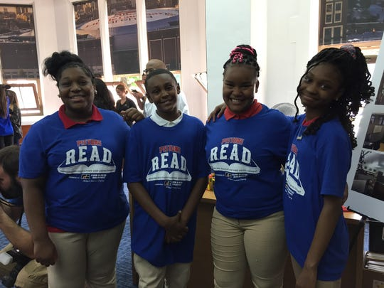 These students at J.E. Clark Preparatory Academy had a chance to check out the new library that was created by the Detroit Pistons and Farm Bureau Insurance.