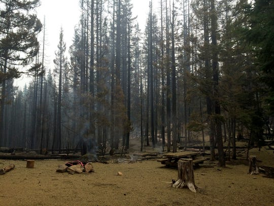 Lava Camp Lake Campground and Trailhad sustained damage
