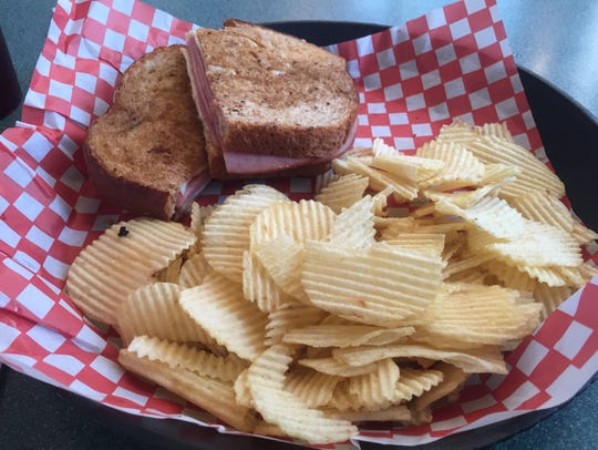 The grilled ham-and-cheese sandwich at JP's Restaurant