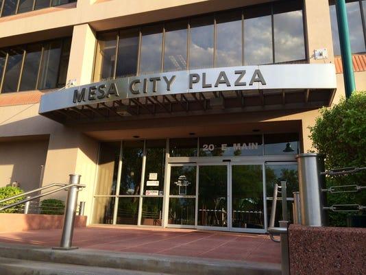 Outside of Mesa City Plaza