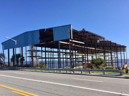 Hurricane Irma damaged the old boat storage building at the Marina Towers property on U.S. 1 in Melbourne.