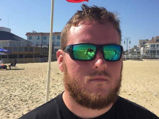 Belmar Water Rescue Team member Brian Allen on the