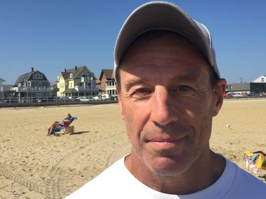 Belmar Water Rescue Team Member Buzz Ciprut on the