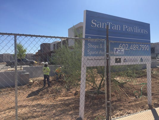 Construction at SanTan Pavilions